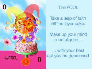 The Fool: Kick Start the New Year by Janice Taylor, Self Help Artist (a Self-Help Artist makes art that invokes happy wisdom)