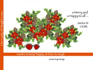 Our Lady of Weight Loss invites you to turn on the juice and shake it loose! ~ Happy Holidays