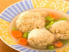 Kosher Matzah ball soup