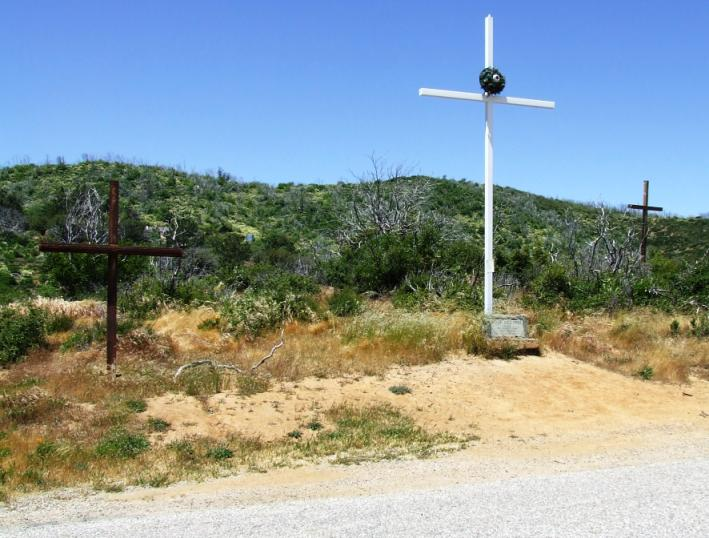 Crosses removed from highway (Courtesy California Department of Transportation)