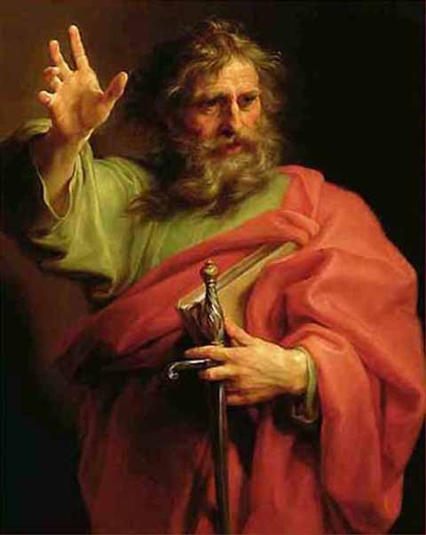 St. Paul, painted by Pompeo Giralamo Batoni (1708-1787),