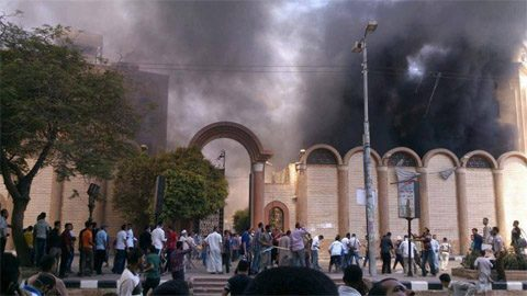 Another church in flames