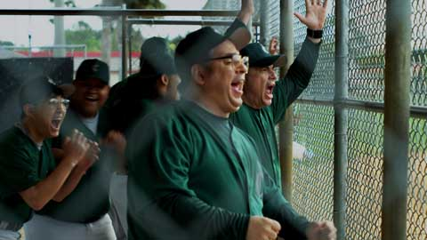 Baseball also offers the film's best comic moments.
