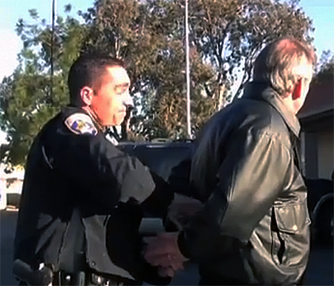 Coronado being arrested