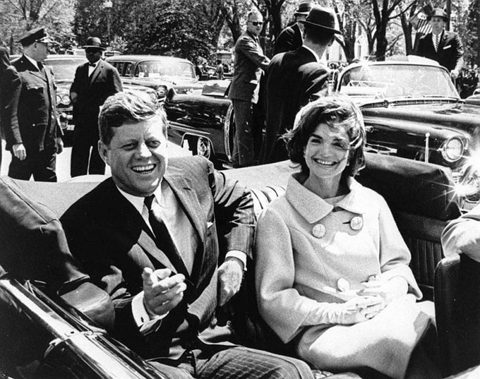 President John F. Kennedy and First Lady Jacqueline Kennedy in Dallas, moments before shots rang out.