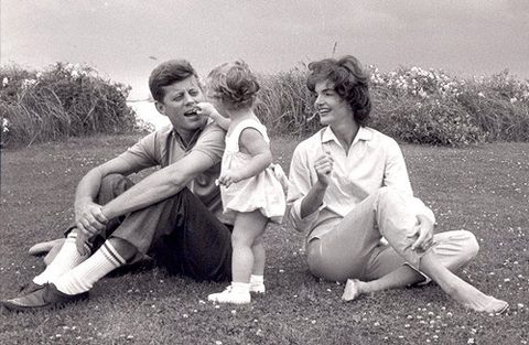 John and Jacqueline Kennedy with their daughter, Caroline.