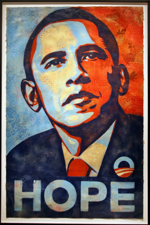 Obama campaign poster (National Archives)