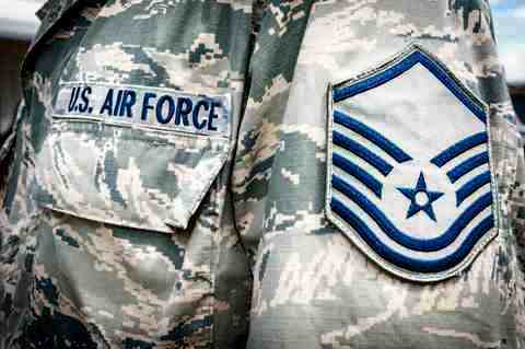 The stripes of airman (U.S. Air Force photo)