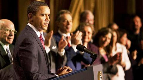 Obama speaks to the National Prayer Breakfast (White House photo)