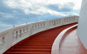 stair-red-stairway-sky-heaven-building-up