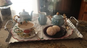 holiday tea with grandmother's small tea set2