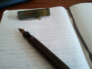 Pen on journal page