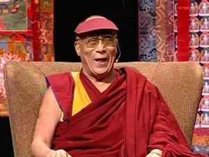 dalai lama laughing