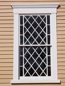 Window, Old Ship Church, Puritan meetinghouse, Hingham, Massachusetts via Wikipedia