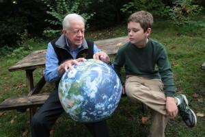 Jimmy Carter & grandson  via flickr