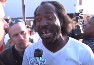 "Charles Ramsey said, ""We"" broke out the door."""