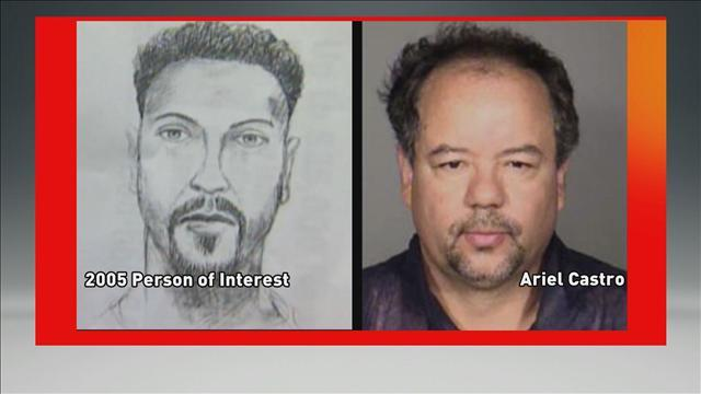 Suspect sketch in DeJesus case (left) Ariel Castro photo (right)