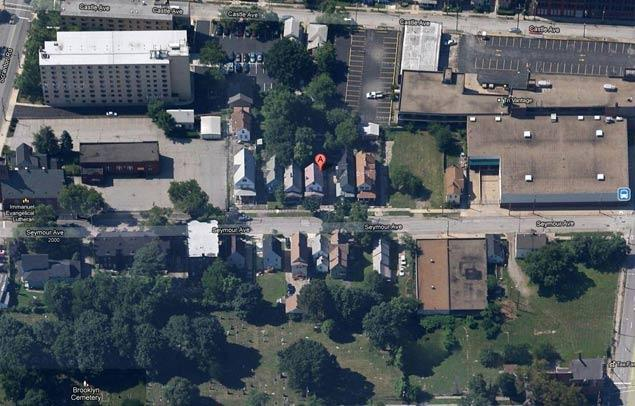 Google Map image showing Ariel Castro's house where he kept Amanda Berry, Gina DeJesus and Michelle Knight