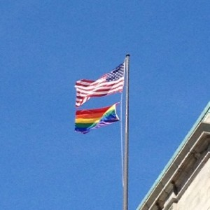 Sodomite Flag over Cleveland City Hall