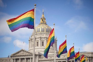 The Sodomite Flags Fly High Over the San Francisco Capital