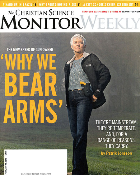 Christian Science Monitor = why we bear arms