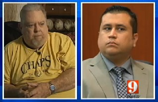 Pastor George A Zimmermann (left) and George Zimmerman (right)
