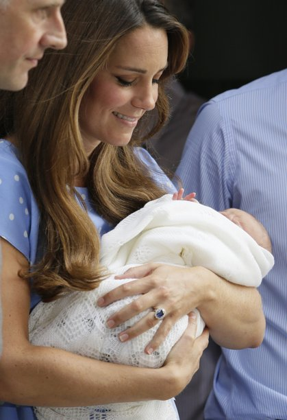 Duchess of Cambridge Kate Middleton & Prince William's Baby Weighed in at 6 lbs. 8 oz.  His Title His Royal Highness (insert his name) the Prince of Cambridge