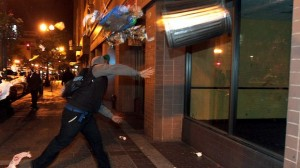 Unnamed protesters turned violent breaking windows, setting fires, beating up whites, all  spawned in US cities throughout as Al Sharpton promised in 100 U. S. cities