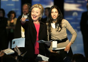 Mrs. Hillary Clinton and Mrs. Huma Weiner, Disgraced Wives of Democrat Sex Deposts