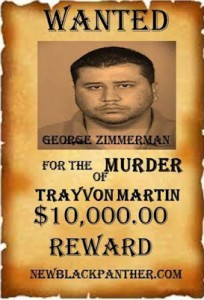 NEW BLACK PANTHERS PUTS $10,000 $10,000 BOUNTY ON THE HEAD OF DEVIL MURDERER GEORGE ZIMMERMAN
