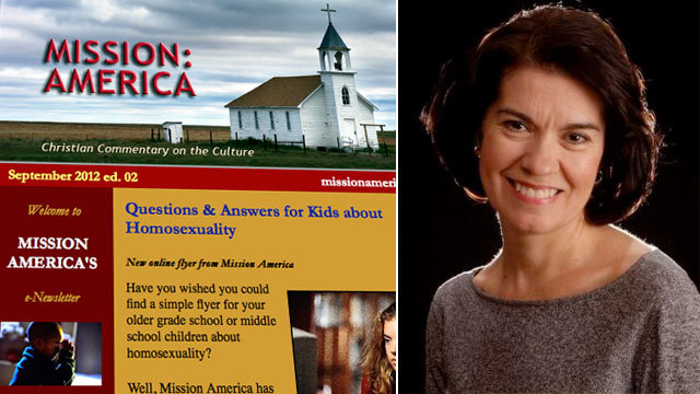 """Linda Harvey of the Christian group Mission: America said she wants kids to know that bullying is wrong. She also wants them to know that """"something called gay"""" is . Visit Mission America: www.missionamerica.com"""