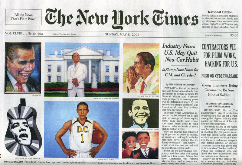 The New York Times Never Fails to Cover When it can show an Obama-Love-Fest