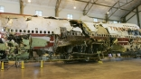 TWA 800 July 16 2008 Remains of TWA Flight 800 from New York to Paris exploded off Long Island NY at National Transportation Safety Board NTSB Training Facility in Ashburn Virginia