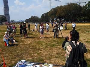 9-11-2013 - Million Muslim March in Washington DC. About 20 participants showed up.