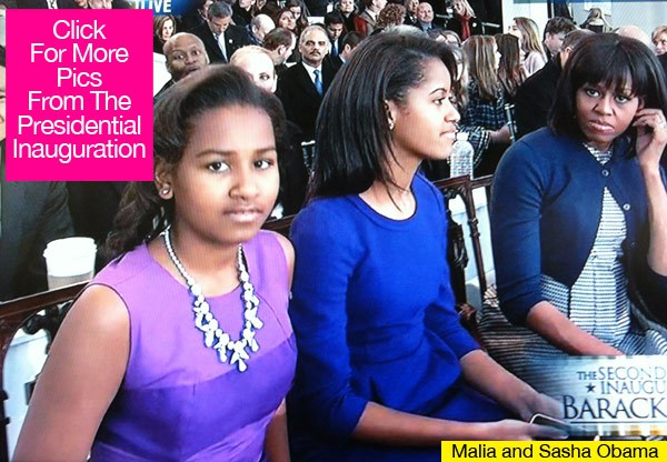 Obama Daughters Wearing Inauguration Dresses