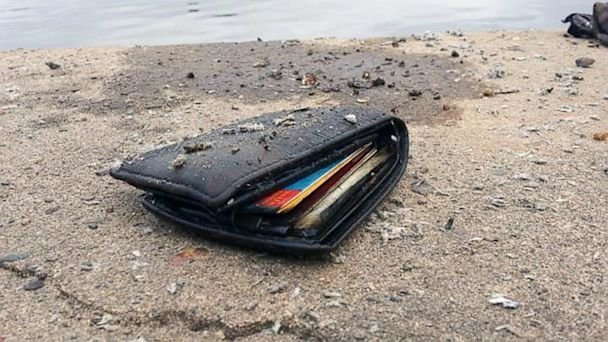 Stolen Wallet found by Joshua Woods while fishing