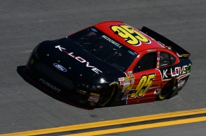 Michael McDowell in the #95 K-LOVE Ford (Photo by Patrick Smith/NASCAR via Getty Images)