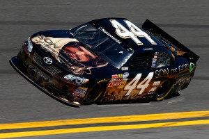 Blake Koch's car at the DRIVE4COPD 300 in Daytona was sponsored by the Son of God movie. (Photo courtesy of NASCARMedia.com)