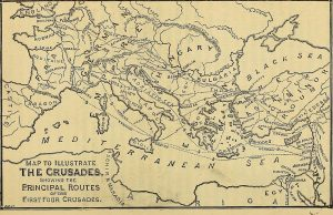 Map_to_illustrate_the_Crusades,_showing_the_principal_routes_of_the_first_four_crusades_(14596690557)