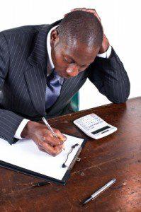 black man working