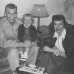 Dad, Mom, and me in 1951