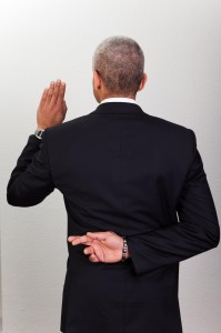 Businessman Taking Oath