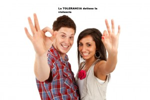 Couple making ok gesture