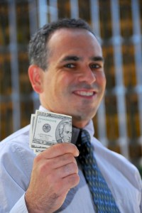 Businessman hold money