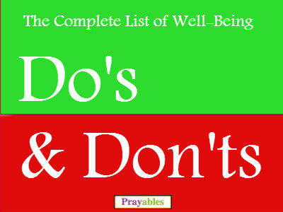 Well Being Dos & Donts