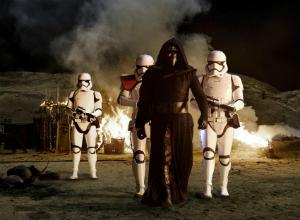 Kylo Ren and Stormtoopers