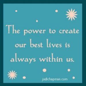 Jodi Chapman - power