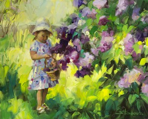 We humans, who are imperfect, would not tease an innocent child. Why, then, do we think that God teases us? Lilac Festival, original painting by Steve Henderson.