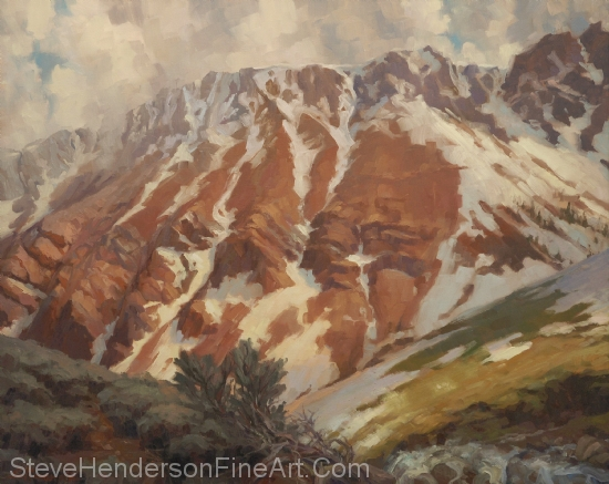 Chief Joseph Mountain original oil painting by Steve Henderson