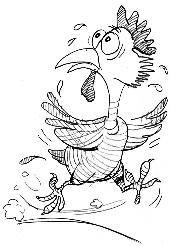 chicken little cartoon by Steve Henderson